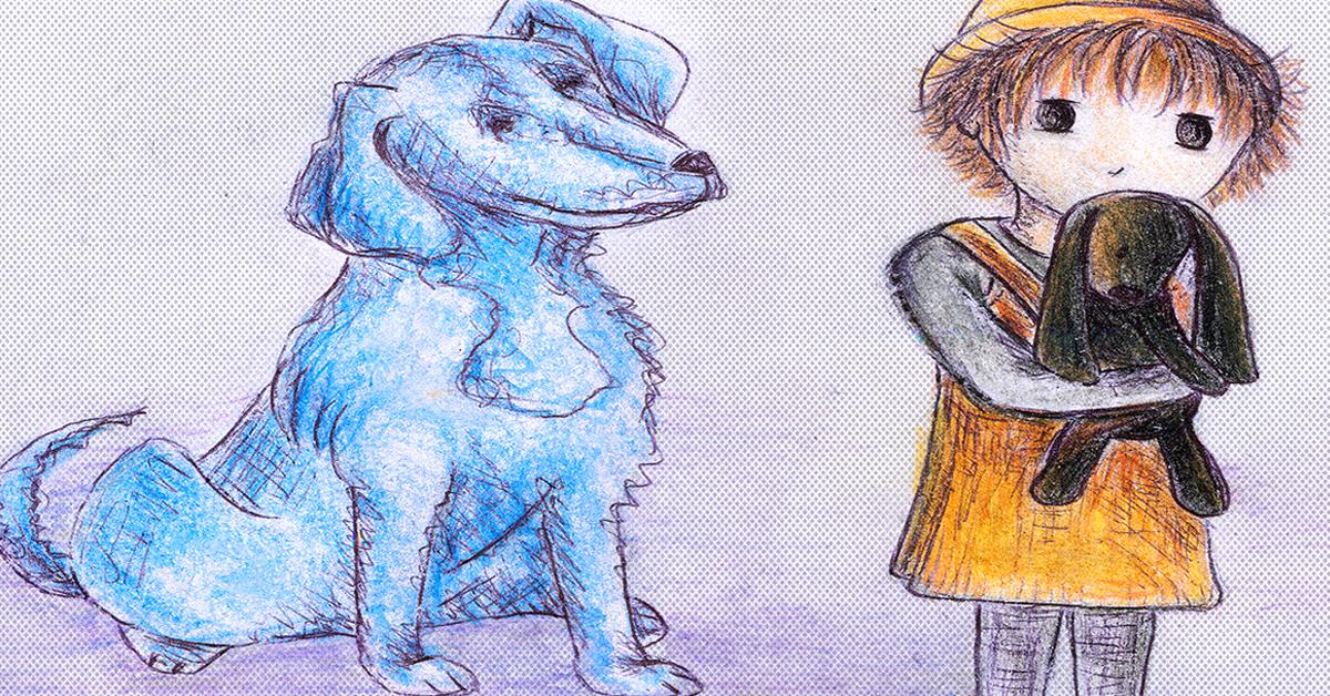 niebieski pies